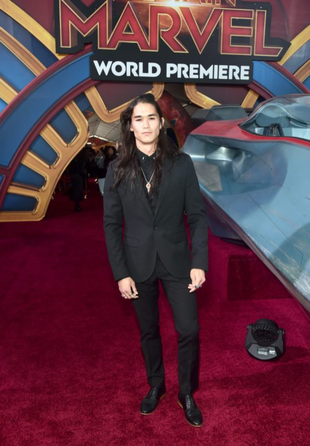 "HOLLYWOOD, CA - MARCH 04: Actor Booboo Stewart attends the Los Angeles World Premiere of Marvel Studios' ""Captain Marvel"" at Dolby Theatre on March 4, 2019 in Hollywood, California. (Photo by Alberto E. Rodriguez/Getty Images for Disney) *** Local Caption *** Booboo Stewart"