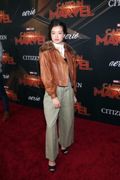 "HOLLYWOOD, CA - MARCH 04: Actor Peyton Elizabeth Lee attends the Los Angeles World Premiere of Marvel Studios' ""Captain Marvel"" at Dolby Theatre on March 4, 2019 in Hollywood, California. (Photo by Jesse Grant/Getty Images for Disney) *** Local Caption *** Peyton Elizabeth Lee"