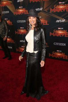 "HOLLYWOOD, CA - MARCH 04: Downtown Julie Brown attends the Los Angeles World Premiere of Marvel Studios' ""Captain Marvel"" at Dolby Theatre on March 4, 2019 in Hollywood, California. (Photo by Jesse Grant/Getty Images for Disney) *** Local Caption *** Downtown Julie Brown"