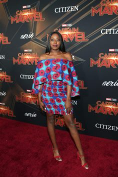 "HOLLYWOOD, CA - MARCH 04: Chiney Ogwumike attends the Los Angeles World Premiere of Marvel Studios' ""Captain Marvel"" at Dolby Theatre on March 4, 2019 in Hollywood, California. (Photo by Jesse Grant/Getty Images for Disney) *** Local Caption *** Chiney Ogwumike"