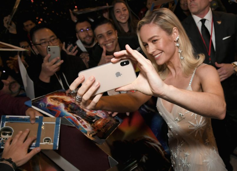 "HOLLYWOOD, CA - MARCH 04: Actor Brie Larson attends the Los Angeles World Premiere of Marvel Studios' ""Captain Marvel"" at Dolby Theatre on March 4, 2019 in Hollywood, California. (Photo by Charley Gallay/Getty Images for Disney) *** Local Caption *** Brie Larson"