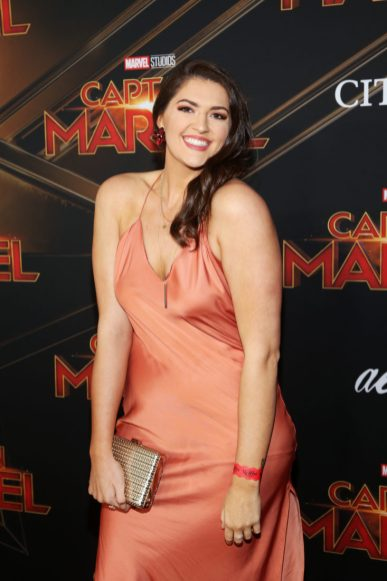 "HOLLYWOOD, CA - MARCH 04: Stefanie Dolson attends the Los Angeles World Premiere of Marvel Studios' ""Captain Marvel"" at Dolby Theatre on March 4, 2019 in Hollywood, California. (Photo by Jesse Grant/Getty Images for Disney) *** Local Caption *** Stefanie Dolson"