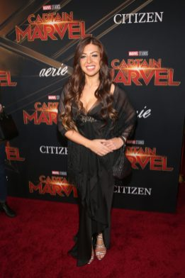 """HOLLYWOOD, CA - MARCH 04: Composer Pinar Toprak attends the Los Angeles World Premiere of Marvel Studios' """"Captain Marvel"""" at Dolby Theatre on March 4, 2019 in Hollywood, California. (Photo by Jesse Grant/Getty Images for Disney) *** Local Caption *** Pinar Toprak"""