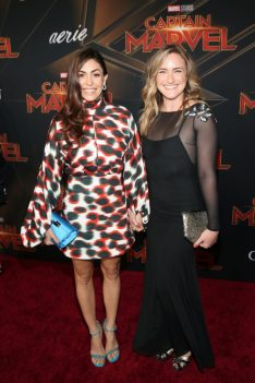 "HOLLYWOOD, CA - MARCH 04: Actor Natalia Cordova-Buckley (L) and guest attend the Los Angeles World Premiere of Marvel Studios' ""Captain Marvel"" at Dolby Theatre on March 4, 2019 in Hollywood, California. (Photo by Jesse Grant/Getty Images for Disney) *** Local Caption *** Natalia Cordova-Buckley"