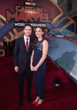 """HOLLYWOOD, CA - MARCH 04: Director/writer Ryan Fleck (L) and guest attend the Los Angeles World Premiere of Marvel Studios' """"Captain Marvel"""" at Dolby Theatre on March 4, 2019 in Hollywood, California. (Photo by Alberto E. Rodriguez/Getty Images for Disney) *** Local Caption *** Ryan Fleck"""