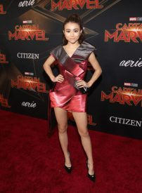 """HOLLYWOOD, CA - MARCH 04: Actor Ciara Riley Wilson attends the Los Angeles World Premiere of Marvel Studios' """"Captain Marvel"""" at Dolby Theatre on March 4, 2019 in Hollywood, California. (Photo by Jesse Grant/Getty Images for Disney) *** Local Caption *** Ciara Riley Wilson"""