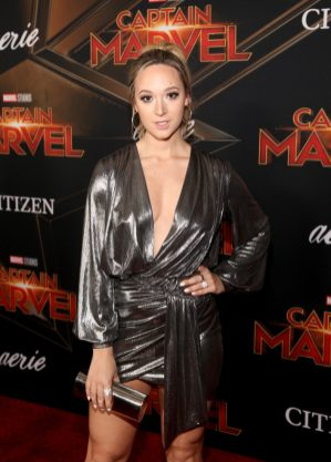 "HOLLYWOOD, CA - MARCH 04: Alisha Marie attends the Los Angeles World Premiere of Marvel Studios' ""Captain Marvel"" at Dolby Theatre on March 4, 2019 in Hollywood, California. (Photo by Jesse Grant/Getty Images for Disney) *** Local Caption *** Alisha Marie"