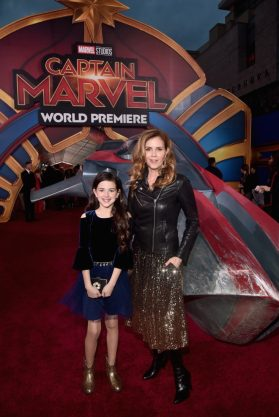 "HOLLYWOOD, CA - MARCH 04: (L-R) Actors Abby Ryder Fortson and Christie Lynn Smith attend the Los Angeles World Premiere of Marvel Studios' ""Captain Marvel"" at Dolby Theatre on March 4, 2019 in Hollywood, California. (Photo by Alberto E. Rodriguez/Getty Images for Disney) *** Local Caption *** Christie Lynn Smith; Abby Ryder Fortson"