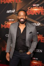 """HOLLYWOOD, CA - MARCH 04: Chike Okonkwo attends the Los Angeles World Premiere of Marvel Studios' """"Captain Marvel"""" at Dolby Theatre on March 4, 2019 in Hollywood, California. (Photo by Jesse Grant/Getty Images for Disney) *** Local Caption *** Chike Okonkwo"""