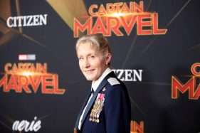 """HOLLYWOOD, CA - MARCH 04: Brigadier General Jeannie M. Leavitt attends the Los Angeles World Premiere of Marvel Studios' """"Captain Marvel"""" at Dolby Theatre on March 4, 2019 in Hollywood, California. (Photo by Jesse Grant/Getty Images for Disney) *** Local Caption *** Jeannie Leavitt"""
