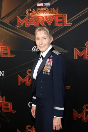 "HOLLYWOOD, CA - MARCH 04: Brigadier General Jeannie M. Leavitt attends the Los Angeles World Premiere of Marvel Studios' ""Captain Marvel"" at Dolby Theatre on March 4, 2019 in Hollywood, California. (Photo by Jesse Grant/Getty Images for Disney) *** Local Caption *** Jeannie Leavitt"