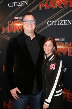 """HOLLYWOOD, CA - MARCH 04: Erik Oleson (L) and guest attend the Los Angeles World Premiere of Marvel Studios' """"Captain Marvel"""" at Dolby Theatre on March 4, 2019 in Hollywood, California. (Photo by Jesse Grant/Getty Images for Disney) *** Local Caption *** Erik Oleson"""
