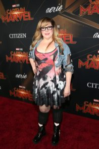 """HOLLYWOOD, CA - MARCH 04: Actor Kirsten Vangsness attends the Los Angeles World Premiere of Marvel Studios' """"Captain Marvel"""" at Dolby Theatre on March 4, 2019 in Hollywood, California. (Photo by Jesse Grant/Getty Images for Disney) *** Local Caption *** Kirsten Vangsness"""