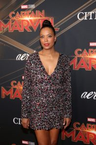 """HOLLYWOOD, CA - MARCH 04: Actor Aisha Tyler attends the Los Angeles World Premiere of Marvel Studios' """"Captain Marvel"""" at Dolby Theatre on March 4, 2019 in Hollywood, California. (Photo by Jesse Grant/Getty Images for Disney) *** Local Caption *** Aisha Tyler"""