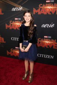 """HOLLYWOOD, CA - MARCH 04: Actor Abby Ryder Fortson attends the Los Angeles World Premiere of Marvel Studios' """"Captain Marvel"""" at Dolby Theatre on March 4, 2019 in Hollywood, California. (Photo by Jesse Grant/Getty Images for Disney) *** Local Caption *** Abby Ryder Fortson"""