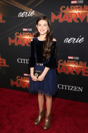 "HOLLYWOOD, CA - MARCH 04: Actor Abby Ryder Fortson attends the Los Angeles World Premiere of Marvel Studios' ""Captain Marvel"" at Dolby Theatre on March 4, 2019 in Hollywood, California. (Photo by Jesse Grant/Getty Images for Disney) *** Local Caption *** Abby Ryder Fortson"