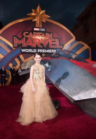 "HOLLYWOOD, CA - MARCH 04: Actor Mckenna Grace attends the Los Angeles World Premiere of Marvel Studios' ""Captain Marvel"" at Dolby Theatre on March 4, 2019 in Hollywood, California. (Photo by Alberto E. Rodriguez/Getty Images for Disney) *** Local Caption *** Mckenna Grace"