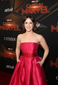 """HOLLYWOOD, CA - MARCH 04: Actor Elizabeth Henstridge attends the Los Angeles World Premiere of Marvel Studios' """"Captain Marvel"""" at Dolby Theatre on March 4, 2019 in Hollywood, California. (Photo by Jesse Grant/Getty Images for Disney) *** Local Caption *** Elizabeth Henstridge"""