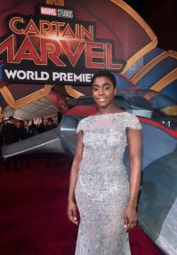 """HOLLYWOOD, CA - MARCH 04: Actor Lashana Lynch attends the Los Angeles World Premiere of Marvel Studios' """"Captain Marvel"""" at Dolby Theatre on March 4, 2019 in Hollywood, California. (Photo by Alberto E. Rodriguez/Getty Images for Disney) *** Local Caption *** Lashana Lynch"""