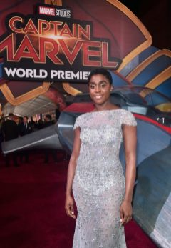 "HOLLYWOOD, CA - MARCH 04: Actor Lashana Lynch attends the Los Angeles World Premiere of Marvel Studios' ""Captain Marvel"" at Dolby Theatre on March 4, 2019 in Hollywood, California. (Photo by Alberto E. Rodriguez/Getty Images for Disney) *** Local Caption *** Lashana Lynch"