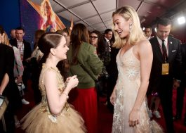"""HOLLYWOOD, CA - MARCH 04: (L-R) Actors Mckenna Grace and Brie Larson attend the Los Angeles World Premiere of Marvel Studios' """"Captain Marvel"""" at Dolby Theatre on March 4, 2019 in Hollywood, California. (Photo by Alberto E. Rodriguez/Getty Images for Disney) *** Local Caption *** Brie Larson; Mckenna Grace"""