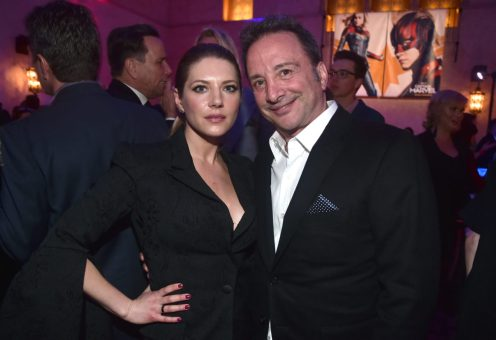 """HOLLYWOOD, CA - MARCH 04: (L-R) Actor Katheryn Winnick and Executive Producer Louis D'Esposito attends the Los Angeles World Premiere of Marvel Studios' """"Captain Marvel"""" at Dolby Theatre on March 4, 2019 in Hollywood, California. (Photo by Alberto E. Rodriguez/Getty Images for Disney) *** Local Caption *** Katheryn Winnick; Louis D'Esposito"""