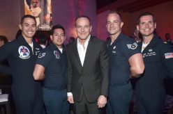 """HOLLYWOOD, CA - MARCH 04: Actor Clark Gregg (C) and Air Force Thunderbirds attend the Los Angeles World Premiere of Marvel Studios' """"Captain Marvel"""" at Dolby Theatre on March 4, 2019 in Hollywood, California. (Photo by Alberto E. Rodriguez/Getty Images for Disney) *** Local Caption *** Clark Gregg"""