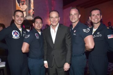 "HOLLYWOOD, CA - MARCH 04: Actor Clark Gregg (C) and Air Force Thunderbirds attend the Los Angeles World Premiere of Marvel Studios' ""Captain Marvel"" at Dolby Theatre on March 4, 2019 in Hollywood, California. (Photo by Alberto E. Rodriguez/Getty Images for Disney) *** Local Caption *** Clark Gregg"
