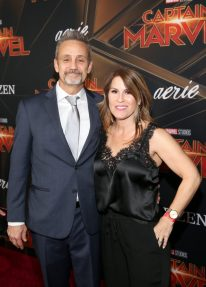 """HOLLYWOOD, CA - MARCH 04: Producer Mitchell Bell (L) and guest attend the Los Angeles World Premiere of Marvel Studios' """"Captain Marvel"""" at Dolby Theatre on March 4, 2019 in Hollywood, California. (Photo by Jesse Grant/Getty Images for Disney) *** Local Caption *** Mitchell Bell"""