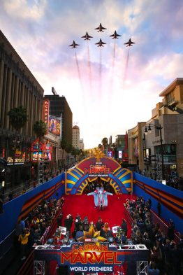 """Los Angeles World Premiere of Marvel Studios' """"Captain Marvel"""" at Dolby Theatre on March 4, 2019 in Hollywood, California...Photo: Randall Michelson"""