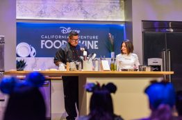 "Disney California Adventure Food & Wine Festival takes place March 1 to April 23, 2019. Guests can explore California-inspired cuisine and beverages, plus live entertainment, family-friendly seminars and cooking demonstrations. Kids can even join the fun with hands-on ""cooking"" experiences that end with a tasty surprise. (Disneyland Resort)"