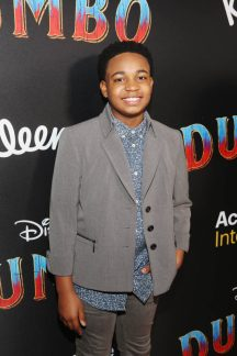 """LOS ANGELES, CA - MARCH 11: Issac Brown attends the World Premiere of Disney's """"Dumbo"""" at the El Capitan Theatre on March 11, 2019 in Los Angeles, California. (Photo by Jesse Grant/Getty Images for Disney) *** Local Caption *** Issac Brown"""