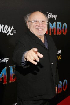 """LOS ANGELES, CA - MARCH 11: Actor Danny DeVito attends the World Premiere of Disney's """"Dumbo"""" at the El Capitan Theatre on March 11, 2019 in Los Angeles, California. (Photo by Jesse Grant/Getty Images for Disney) *** Local Caption *** Danny DeVito"""