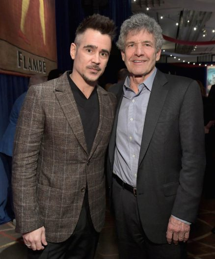 "LOS ANGELES, CA - MARCH 11: Actor Colin Farrell (L) and Chairman, The Walt Disney Studios, Alan Horn attend the World Premiere of Disney's ""Dumbo"" at the El Capitan Theatre on March 11, 2019 in Los Angeles, California. (Photo by Charley Gallay/Getty Images for Disney) *** Local Caption *** Colin Farrell; Alan Horn"