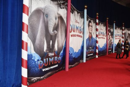 "LOS ANGELES, CA - MARCH 11: A view of the atmosphere during the World Premiere of Disney's ""Dumbo"" at the El Capitan Theatre on March 11, 2019 in Los Angeles, California. (Photo by Alberto E. Rodriguez/Getty Images for Disney)"