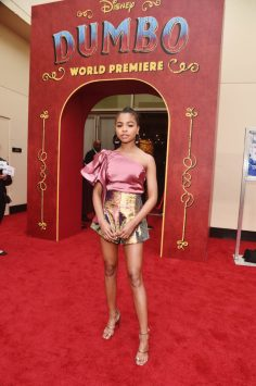"LOS ANGELES, CA - MARCH 11: Navia Robinson attends the World Premiere of Disney's ""Dumbo"" at the El Capitan Theatre on March 11, 2019 in Los Angeles, California. (Photo by Alberto E. Rodriguez/Getty Images for Disney) *** Local Caption *** Navia Robinson"