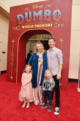 """LOS ANGELES, CA - MARCH 11: Beverley Mitchell (C) and guests attend the World Premiere of Disney's """"Dumbo"""" at the El Capitan Theatre on March 11, 2019 in Los Angeles, California. (Photo by Alberto E. Rodriguez/Getty Images for Disney) *** Local Caption *** Beverley Mitchell"""