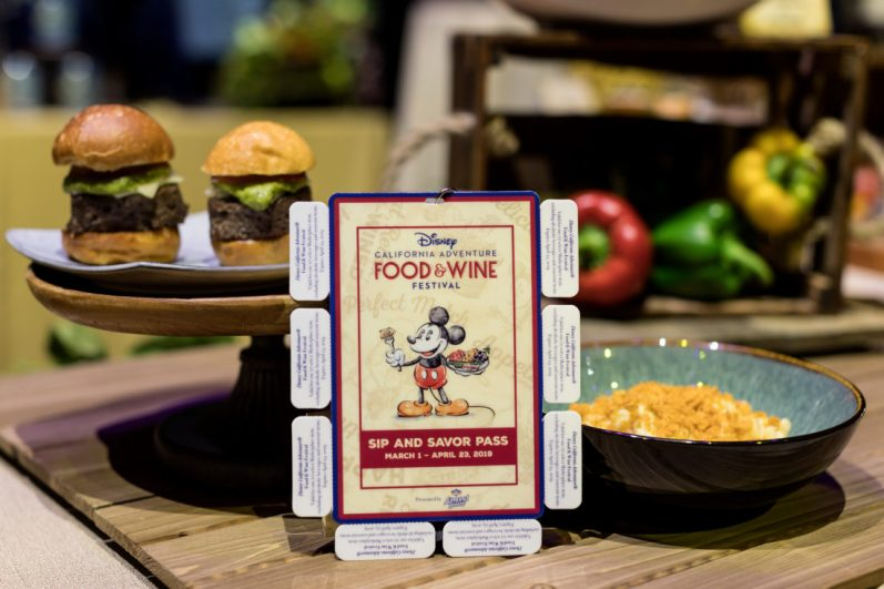 Disney California Adventure Food & Wine Festival takes place March 1 to April 23, 2019. Guests can explore California-inspired cuisine and beverages, plus live entertainment, family-friendly seminars and cooking demonstrations. Guests may choose to purchase the Sip and Savor Pass during the event to get the best value as they taste their way through the Festival Marketplaces and participating locations. (Joshua Sudock/Disneyland Resort)