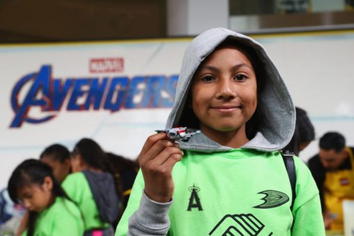 ANAHEIM, CA - APRIL 05: Guest attends Avengers Universe Unites, a charity event to celebrate the donation of more than $5 million in cash and toys to nonprofits supporting children with critical illnesses, at Disney California Adventure Park on April 5, 2019 in Anaheim, California. (Photo by Joe Scarnici/Getty Images for Disney)
