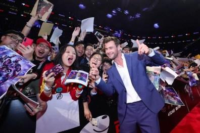 Chris Hemsworth at the Avengers Endgame China Fan Event Red Carpet