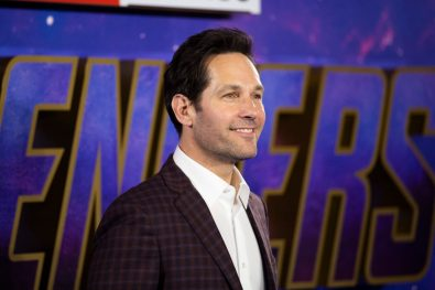 Paul Rudd attends the UK Fan Event to celebrate the release of Marvel Studios' 'Avengers: Endgame' at Picturehouse Central on April 10, 2019 in London, England.