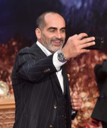 """LOS ANGELES, CA - MAY 21: Navid Negahban attends the World Premiere of Disney's """"Aladdin"""" at the El Capitan Theater in Hollywood CA on May 21, 2019, in the culmination of the film's Magic Carpet World Tour with stops in Paris, London, Berlin, Tokyo, Mexico City and Amman, Jordan. (Photo by Alberto E. Rodriguez/Getty Images for Disney) *** Local Caption *** Navid Negahban"""