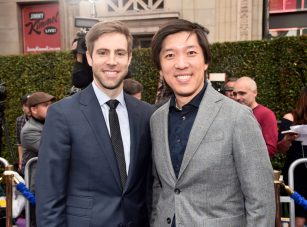 """LOS ANGELES, CA - MAY 21: Producers Jonathan Eirich (L) and Dan Lin attend the World Premiere of Disney's """"Aladdin"""" at the El Capitan Theater in Hollywood CA on May 21, 2019, in the culmination of the film's Magic Carpet World Tour with stops in Paris, London, Berlin, Tokyo, Mexico City and Amman, Jordan. (Photo by Alberto E. Rodriguez/Getty Images for Disney) *** Local Caption *** Jonathan Eirich; Dan Lin"""