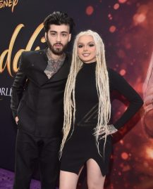"""LOS ANGELES, CA - MAY 21: ZAYN (L) and Zhavia Ward attend the World Premiere of Disney's """"Aladdin"""" at the El Capitan Theater in Hollywood CA on May 21, 2019, in the culmination of the film's Magic Carpet World Tour with stops in Paris, London, Berlin, Tokyo, Mexico City and Amman, Jordan. (Photo by Alberto E. Rodriguez/Getty Images for Disney) *** Local Caption *** ZAYN; Zhavia Ward"""