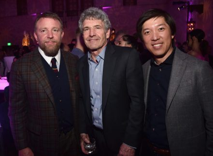 """LOS ANGELES, CA - MAY 21: (L-R) Director Guy Ritchie, Chairman, The Walt Disney Studios, Alan Horn and Producer Dan Lin attend the World Premiere of Disney's """"Aladdin"""" at the El Capitan Theater in Hollywood CA on May 21, 2019, in the culmination of the film's Magic Carpet World Tour with stops in Paris, London, Berlin, Tokyo, Mexico City and Amman, Jordan. (Photo by Alberto E. Rodriguez/Getty Images for Disney) *** Local Caption *** Guy Ritchie; Alan Horn; Dan Lin"""