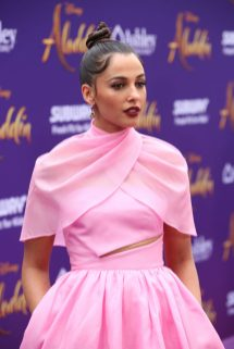"""LOS ANGELES, CA - MAY 21: Naomi Scott attends the World Premiere of Disney's """"Aladdin"""" at the El Capitan Theater in Hollywood CA on May 21, 2019, in the culmination of the film's Magic Carpet World Tour with stops in Paris, London, Berlin, Tokyo, Mexico City and Amman, Jordan. (Photo by Jesse Grant/Getty Images for Disney) *** Local Caption *** Naomi Scott"""
