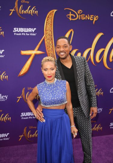 """LOS ANGELES, CA - MAY 21: Jada Pinkett Smith (L) and Will Smith attend the World Premiere of Disney's """"Aladdin"""" at the El Capitan Theater in Hollywood CA on May 21, 2019, in the culmination of the film's Magic Carpet World Tour with stops in Paris, London, Berlin, Tokyo, Mexico City and Amman, Jordan. (Photo by Jesse Grant/Getty Images for Disney) *** Local Caption *** Jada Pinkett Smith; Will Smith"""