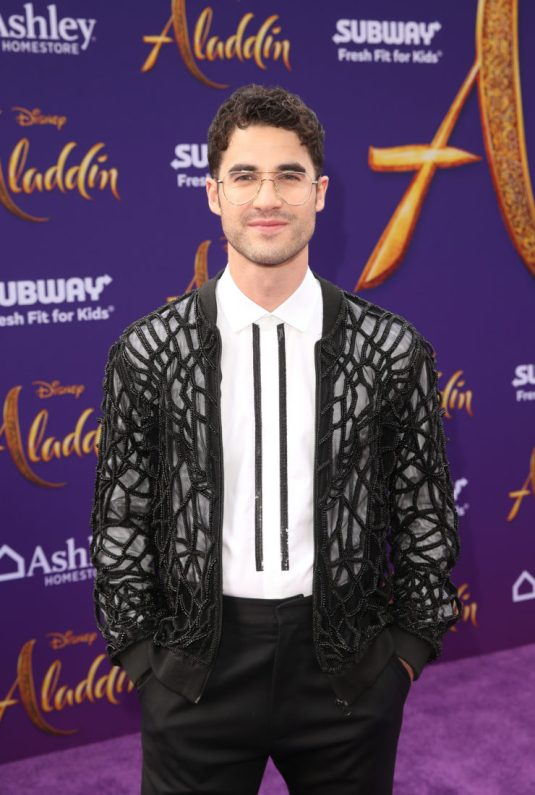 """LOS ANGELES, CA - MAY 21: Darren Criss attends the World Premiere of Disney's """"Aladdin"""" at the El Capitan Theater in Hollywood CA on May 21, 2019, in the culmination of the film's Magic Carpet World Tour with stops in Paris, London, Berlin, Tokyo, Mexico City and Amman, Jordan. (Photo by Jesse Grant/Getty Images for Disney) *** Local Caption *** Darren Criss"""