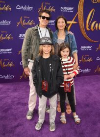 """LOS ANGELES, CA - MAY 21: Johnny Knoxville and family attend the World Premiere of Disney's """"Aladdin"""" at the El Capitan Theater in Hollywood CA on May 21, 2019, in the culmination of the film's Magic Carpet World Tour with stops in Paris, London, Berlin, Tokyo, Mexico City and Amman, Jordan. (Photo by Jesse Grant/Getty Images for Disney) *** Local Caption *** Johnny Knoxville"""