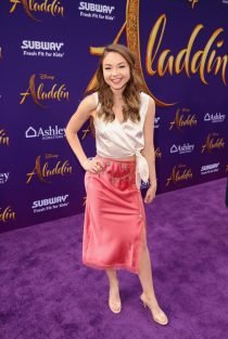"""LOS ANGELES, CA - MAY 21: Meredith Foster attends the World Premiere of Disney's """"Aladdin"""" at the El Capitan Theater in Hollywood CA on May 21, 2019, in the culmination of the film's Magic Carpet World Tour with stops in Paris, London, Berlin, Tokyo, Mexico City and Amman, Jordan. (Photo by Jesse Grant/Getty Images for Disney) *** Local Caption *** Meredith Foster"""